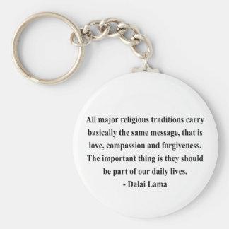 dalai lama quote 12a basic round button keychain