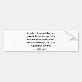 dalai lama quote 12a bumper sticker