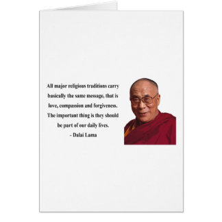 dalai lama quote 12b greeting card
