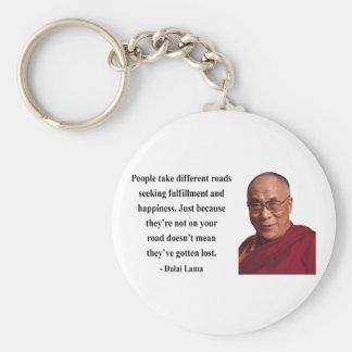 dalai lama quote 1b basic round button keychain