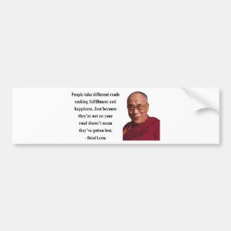 dalai lama quote 1b bumper sticker