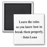 dalai lama quote 2a 2 inch square magnet