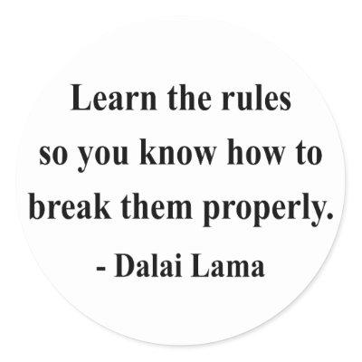 dalai lama quote 2a round sticker
