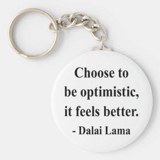 dalai lama quote 4a basic round button keychain