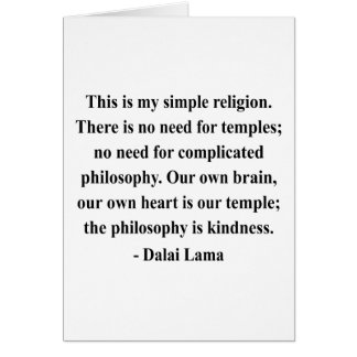 dalai lama quote 6a greeting card