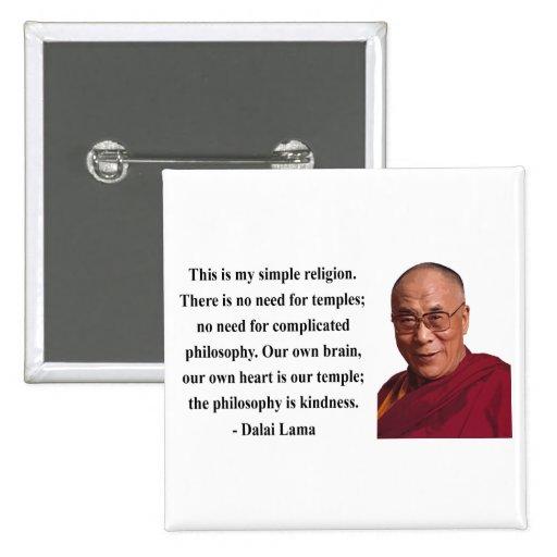 dalai lama quote 6b 2 inch square button