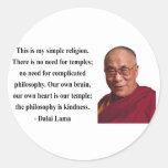 dalai lama quote 6b round sticker