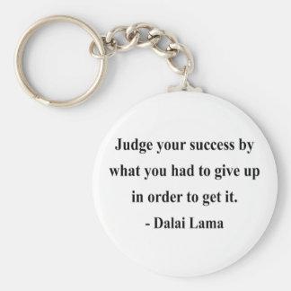 dalai lama quote 7a basic round button keychain
