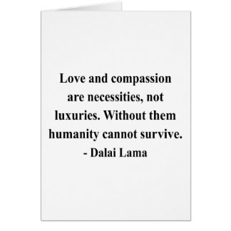 dalai lama quote 8a greeting card