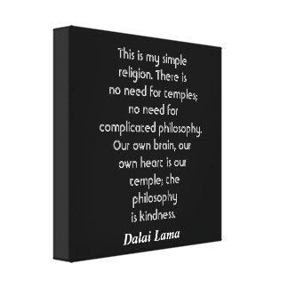 Dalai Lama quote - canvas