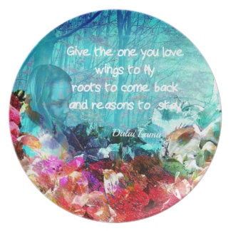 Dalai Lama quote inspirations Dinner Plate