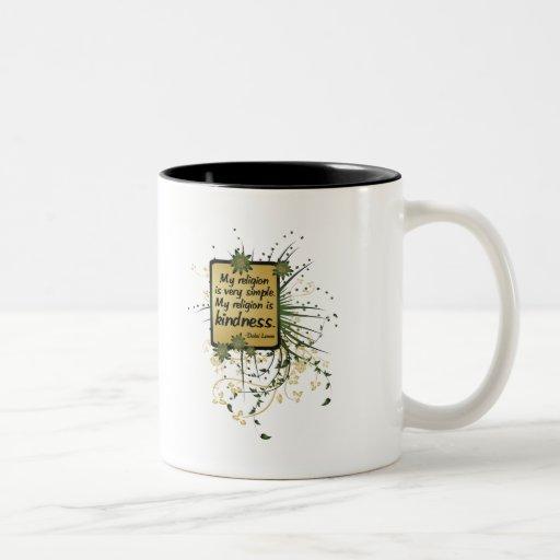 Dalai Lama Religion Quote Two-Tone Coffee Mug
