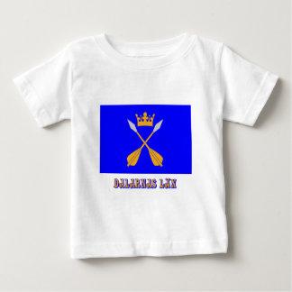 Dalarnas län flag with name tee shirt