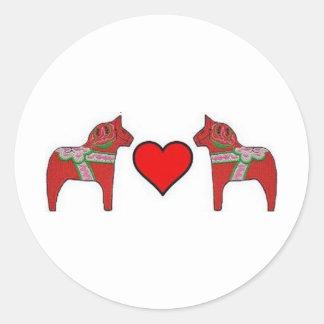 Dalas and Hearts Classic Round Sticker