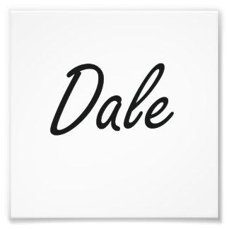 Dale Artistic Name Design Photo Print