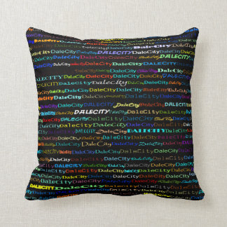 Dale City Text Design I Throw Pillow