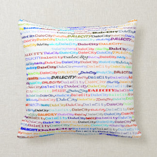 Dale City Text Design II Throw Pillow