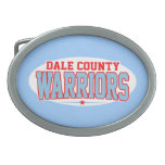 Dale County High School; Warriors Oval Belt Buckles