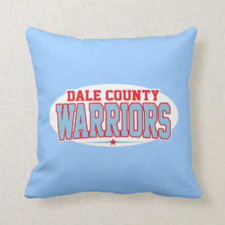 Dale County High School; Warriors Throw Pillow
