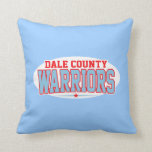Dale County High School; Warriors Throw Pillows