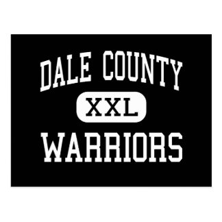 Dale County - Warriors - High - Midland City Postcard