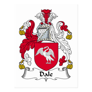 Dale Family Crest Postcard