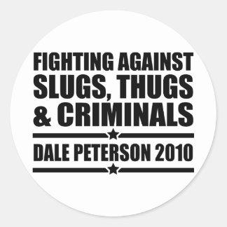 Dale Peterson 2010 Round Sticker