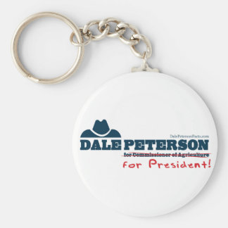 Dale Peterson For President Keychain