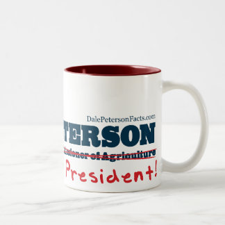 Dale Peterson For President Two-Tone Coffee Mug