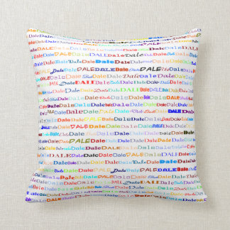 Dale Text Design II Throw Pillow
