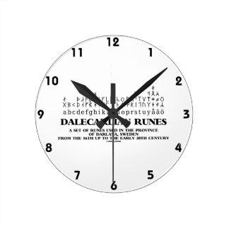 Dalecarlian Runes Set Of Runes In Darlana Sweden Round Wall Clock