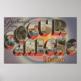 d'Alene de Coeur, Idaho - escenas grandes de la le Póster