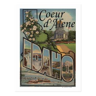 d'Alene de Coeur, Idaho - escenas grandes de la Postales