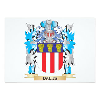 Dales Coat of Arms - Family Crest 5x7 Paper Invitation Card