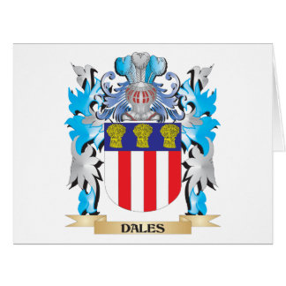 Dales Coat of Arms - Family Crest Large Greeting Card