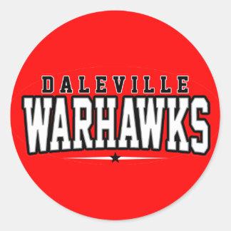 Daleville High School; Warhawks Classic Round Sticker