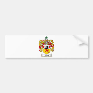 DALEY FAMILY CREST -  DALEY COAT OF ARMS BUMPER STICKER