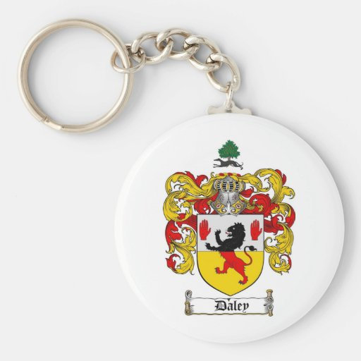 DALEY FAMILY CREST -  DALEY COAT OF ARMS KEY CHAINS