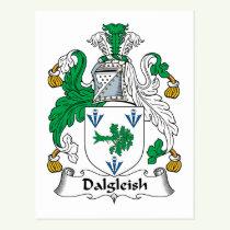 Dalgleish Family Crest Postcard