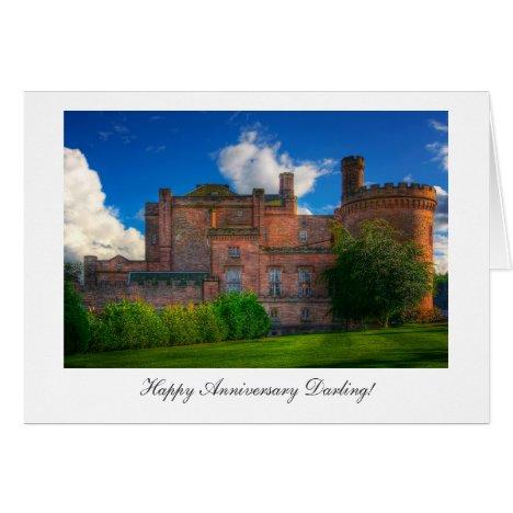 Dalhousie Castle - Happy Anniversay Darling Card