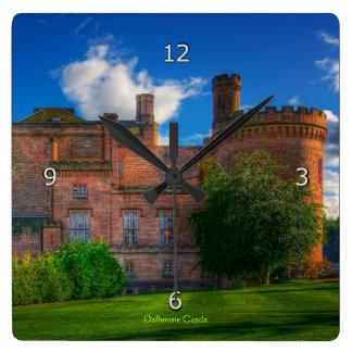 Dalhousie Castle, Midlothian, Scotland Square Wall Clock
