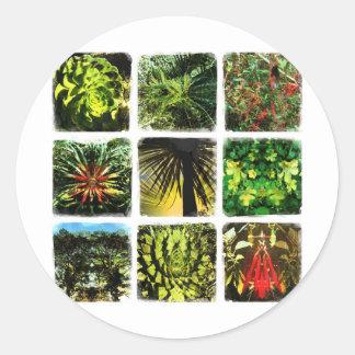 Dali Plants Round Sticker