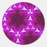 Dalia abstracta púrpura pegatina redonda