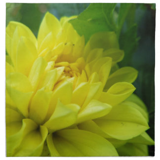 Dalia amarilla brillante servilleta de papel