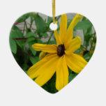 Dalia amarilla soleada adornos
