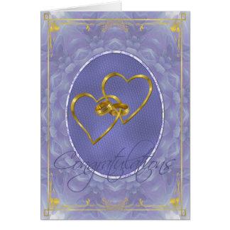 Dalia azul - enhorabuena tarjeta de felicitación