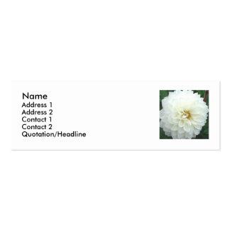 Dalia blanca tarjetas de visita mini