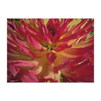 dalia de la magenta, del rosa, y blanca impresión en lienzo
