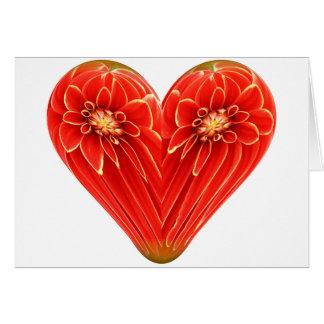 dalia del corazón tarjeta de felicitación