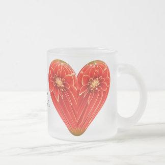dalia del corazón taza de cristal